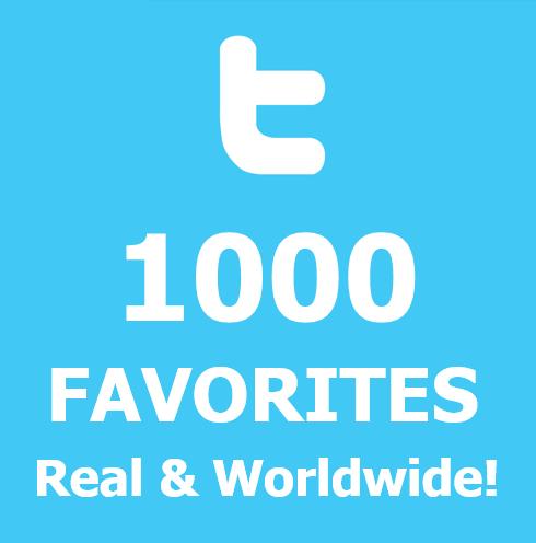 buy 1000 twitter-Favorites