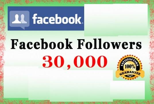 buy 30000 facebook followers