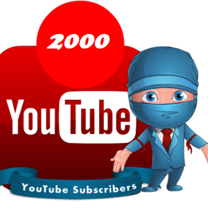 2000 youtube subscribers